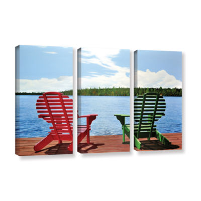 Brushstone Dockside 3-pc. Gallery Wrapped Canvas Wall Art
