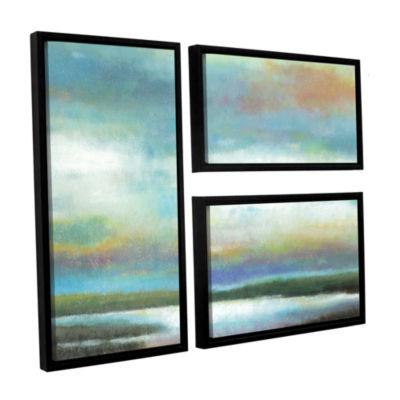 Brushstone Dreamer's Sunset 3-pc. Flag Floater Framed Canvas Wall Art