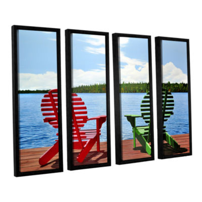 Brushstone Dockside 4-pc. Floater Framed Canvas Wall Art
