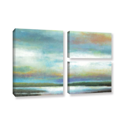 Brushstone Dreamer's Sunset 3-pc. Flag Gallery Wrapped Canvas Wall Art