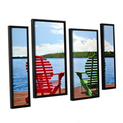 Brushstone Dockside 4-pc. Floater Framed StaggeredCanvas Wall Art