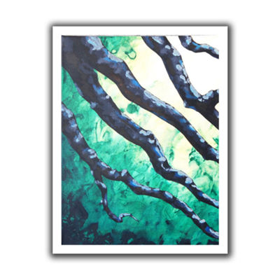 Brushstone Emerald Canvas Wall Art