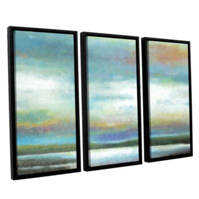 Brushstone Dreamer's Sunset 3-pc. Floater Framed Canvas Wall Art