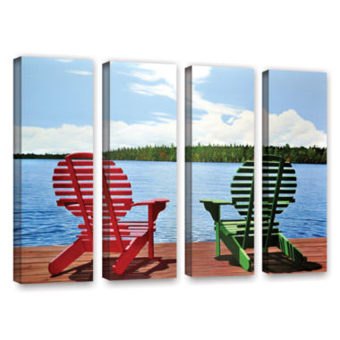 Brushstone Dockside 4-pc. Gallery Wrapped Canvas Wall Art