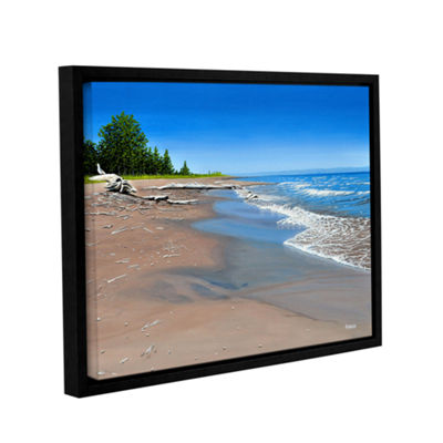 Brushstone Driftwood Beach Gallery Wrapped Floater-Framed Canvas Wall Art