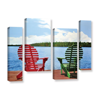 Brushstone Dockside 4-pc. Gallery Wrapped Staggered Canvas Wall Art