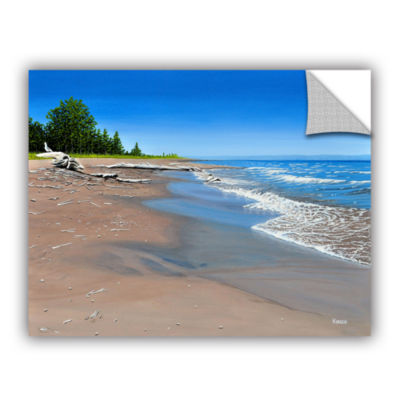 Brushstone Driftwood Beach Removable Wall Decal