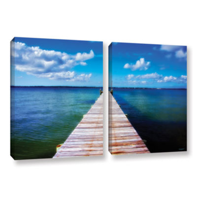 Brushstone Empty Pier 2-pc. Gallery Wrapped CanvasWall Art