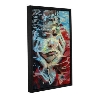 Brushstone Dreaming Gallery Wrapped Floater-FramedCanvas Wall Art