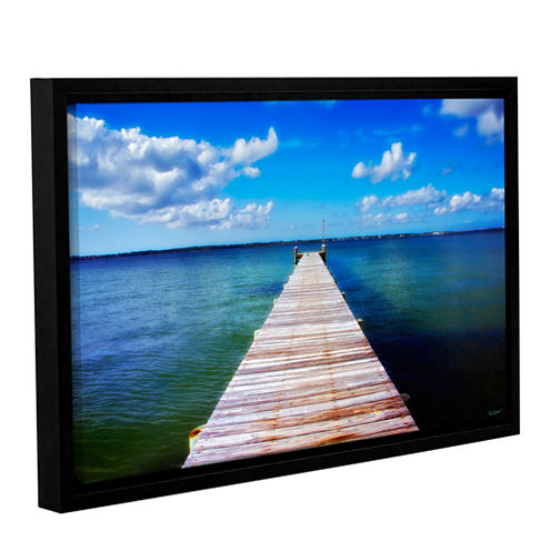 Brushstone Empty Pier Gallery Wrapped Floater-Framed Canvas Wall Art