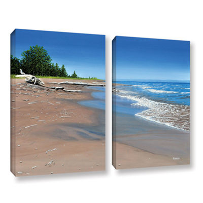 Brushstone Driftwood Beach 2-pc. Gallery Wrapped Canvas Wall Art