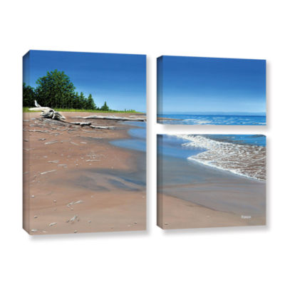 Brushstone Driftwood Beach 3-pc. Flag Gallery Wrapped Canvas Wall Art