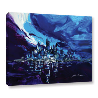 Brushstone Distorted Reflection Gallery Wrapped Canvas Wall Art