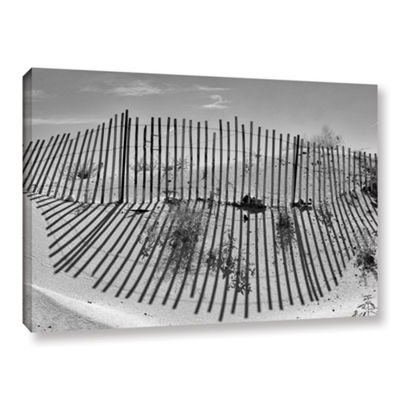 Brushstone Dune Builder Bow Gallery Wrapped CanvasWall Art