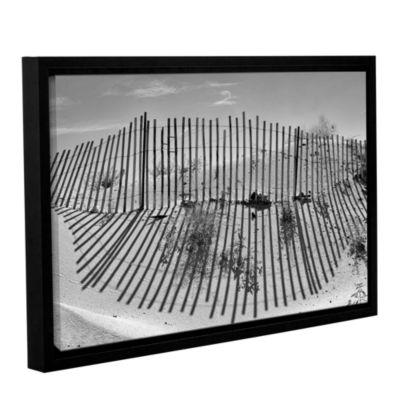Brushstone Dune Builder Bow Gallery Wrapped Floater-Framed Canvas Wall Art