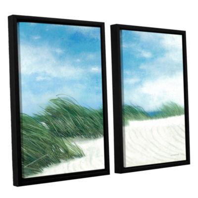 Brushstone Dune Grasses 2-pc. Floater-Framed Canvas Wall Art