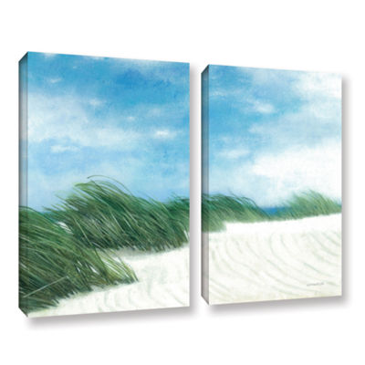 Brushstone Dune Grasses 2-pc. Gallery Wrapped Canvas Wall Art