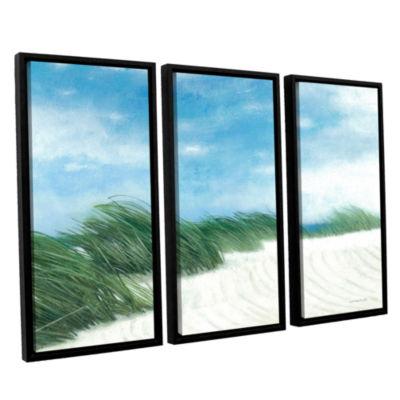 Brushstone Dune Grasses 3-pc. Floater Framed Canvas Wall Art