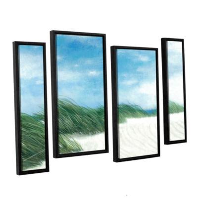 Brushstone Dune Grasses 4-pc. Floater Framed Staggered Canvas Wall Art
