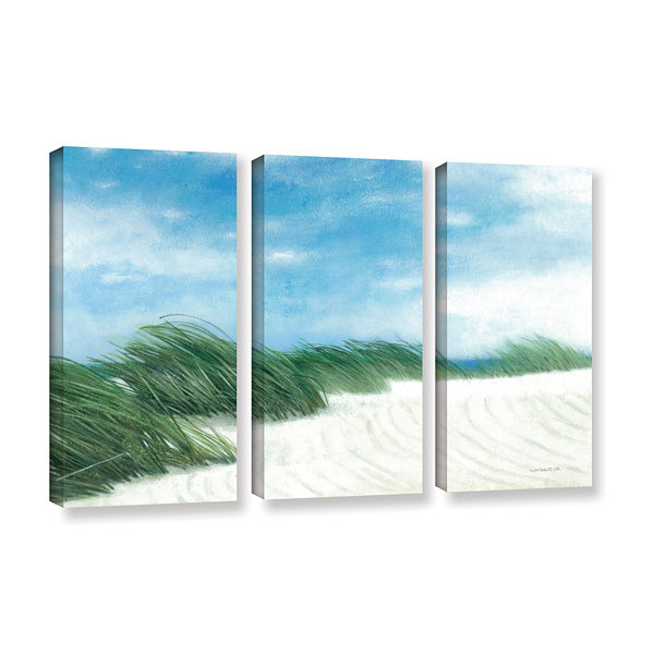 Brushstone Dune Grasses 3-pc. Gallery Wrapped Canvas Wall Art