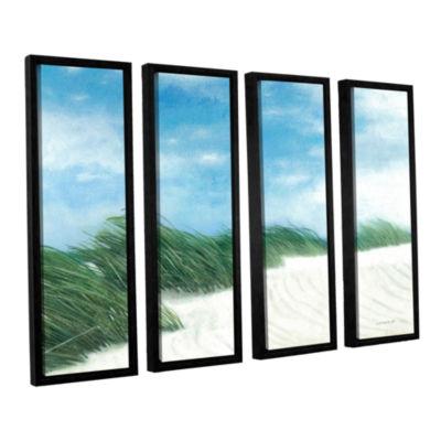 Brushstone Dune Grasses 4-pc. Floater Framed Canvas Wall Art