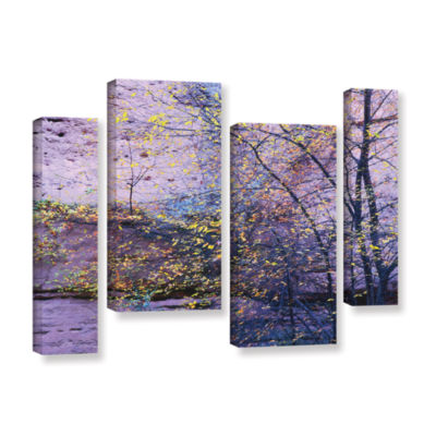 Brushstone Aravaipa Canyon Dusk 4-pc. Gallery Wrapped Staggered Canvas Wall Art