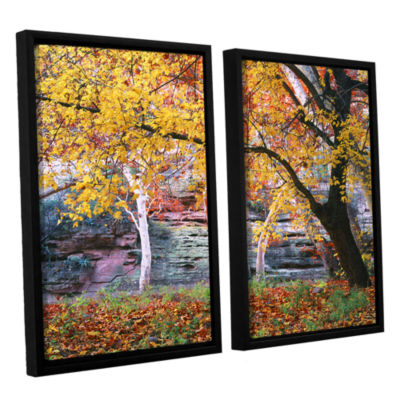 Brushstone aravaipa canyon 2-pc. Floater Framed Canvas Wall Art