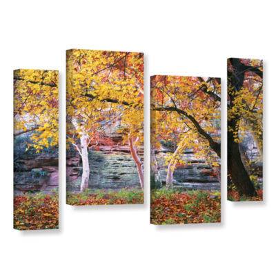 Brushstone Aravaipa Canyon 4-pc. Gallery Wrapped Staggered Canvas Wall Art