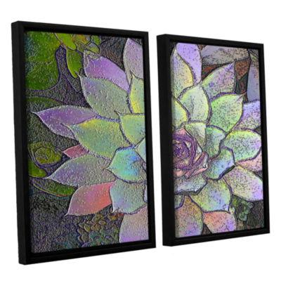 Brushstone arco iris suculento 2-pc. Floater Framed Canvas Wall Art