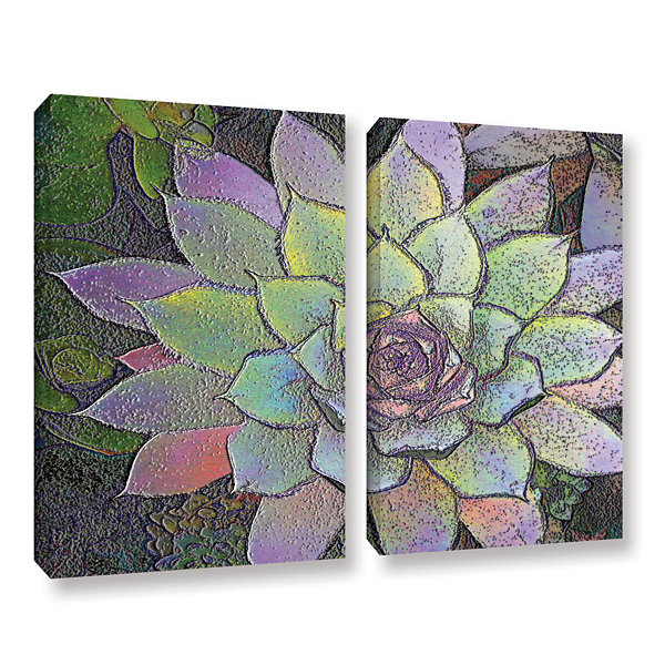 Brushstone Arco Iris Suculento 2-pc. Gallery Wrapped Canvas Wall Art