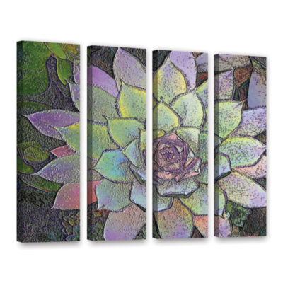 Brushstone Arco Iris Suculento 4-pc. Gallery Wrapped Canvas Wall Art