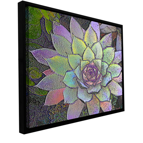 Brushstone arco iris suculento Gallery Wrapped Floater-Framed Canvas Wall Art