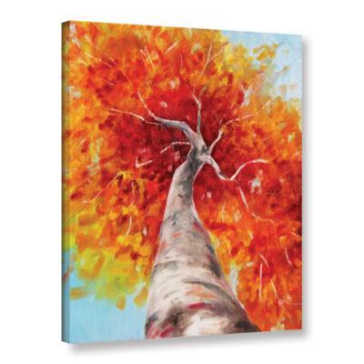 Brushstone Autumn Tree Gallery Wrapped Canvas WallArt