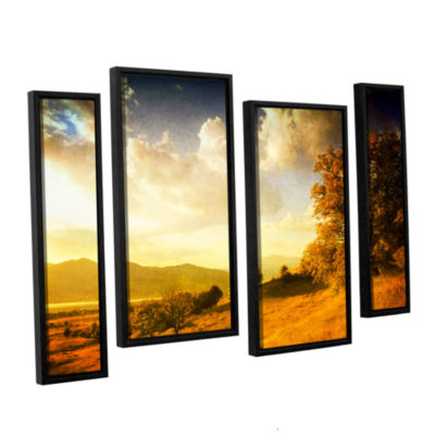 Brushstone Autumn Vision 4-pc. Framed Staggered Canvas Wall Art