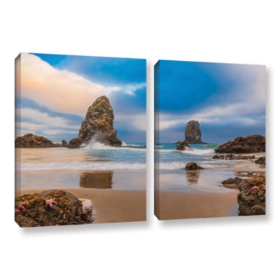 Brushstone Aren'T Starfish Supposed To Be Underwater 2-pc. Gallery Wrapped Canvas Wall Art
