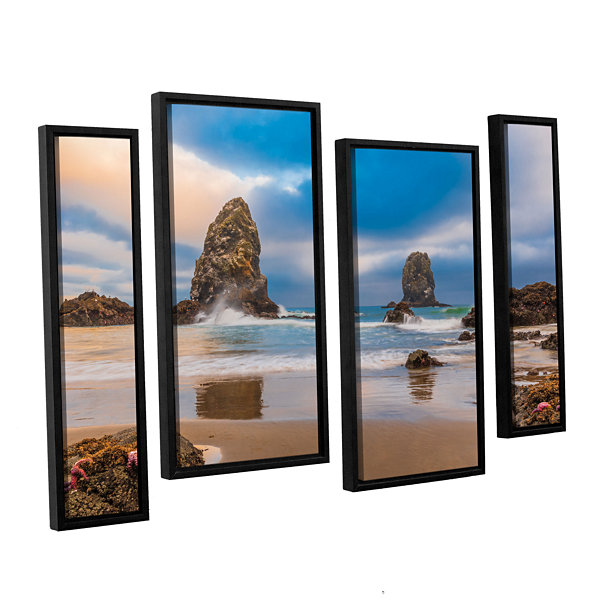 Brushstone Aren'T Starfish Supposed To Be Underwater 4-pc. Framed Staggered Canvas Wall Art