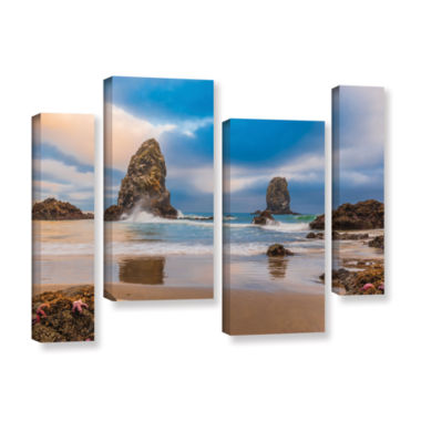 Brushstone Aren'T Starfish Supposed To Be Underwater 4-pc. Gallery Wrapped Staggered Canvas Wall Art