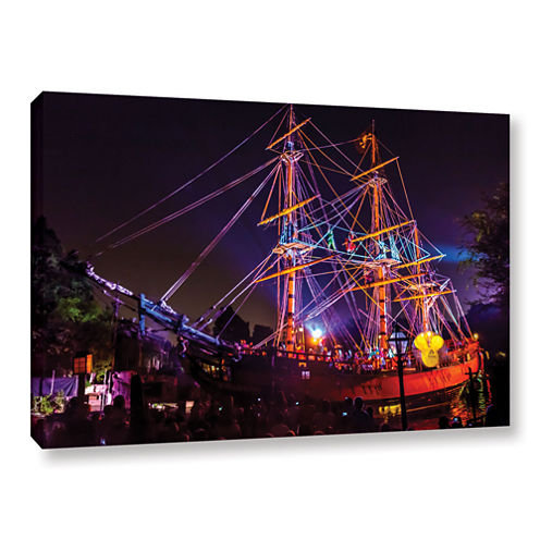 Brushstone Arg Thar Be Pirates of the Caribbean Gallery Wrapped Canvas Wall Art
