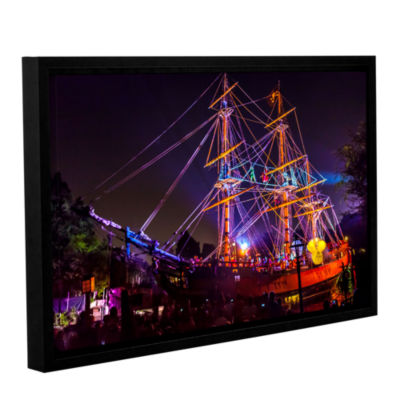 Brushstone Arg Thar Be Pirates Of The Caribbean Gallery Wrapped Framed Canvas Wall Art