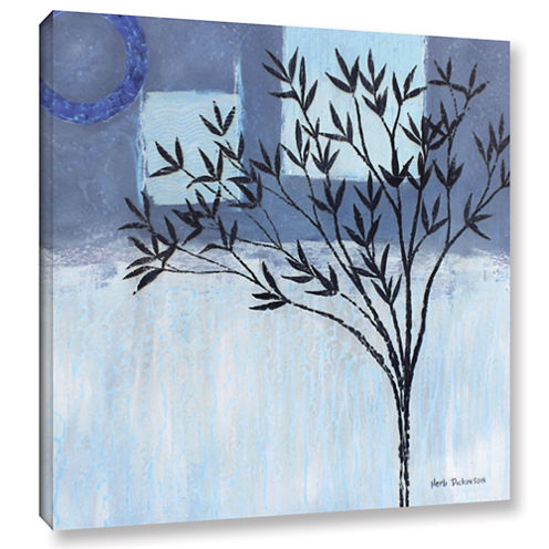 Brushstone Ashley Day Blue Gallery Wrapped CanvasWall Art