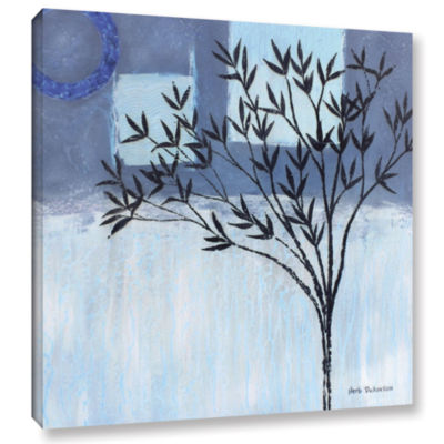 Brushstone Ashley Day Blue Gallery Wrapped CanvasWall Art