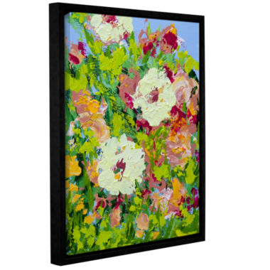 Brushstone Arylies Garden Gallery Wrapped Framed Canvas Wall Art