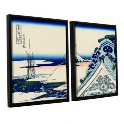 Brushstone Asakusa Honganji Temple In Th Eastern Capital 2-pc. Framed Canvas Wall Art