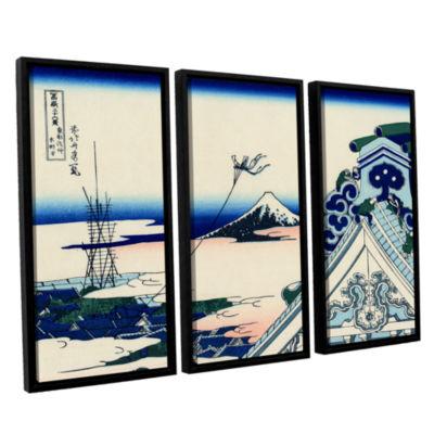 Brushstone Asakusa Honganji Temple In Th Eastern Capital 3-pc. Framed Canvas Wall Art