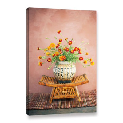 Brushstone Asian Floral Gallery Wrapped Canvas Wall Art