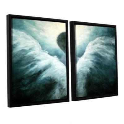 Brushstone Ascending Angel 2-pc. Floater Framed Canvas Wall Art