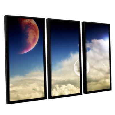 Brushstone Atlantis 3-pc. Floater Framed Canvas Wall Art