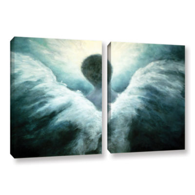 Brushstone Ascending Angel 2-pc. Gallery Wrapped Canvas Wall Art