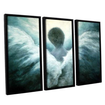 Brushstone Ascending Angel 3-pc. Floater Framed Canvas Wall Art