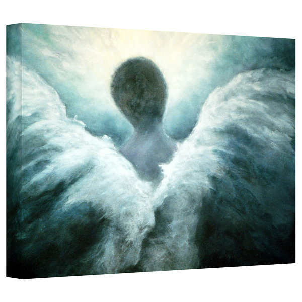 Brushstone Ascending Angel Gallery Wrapped CanvasWall Art